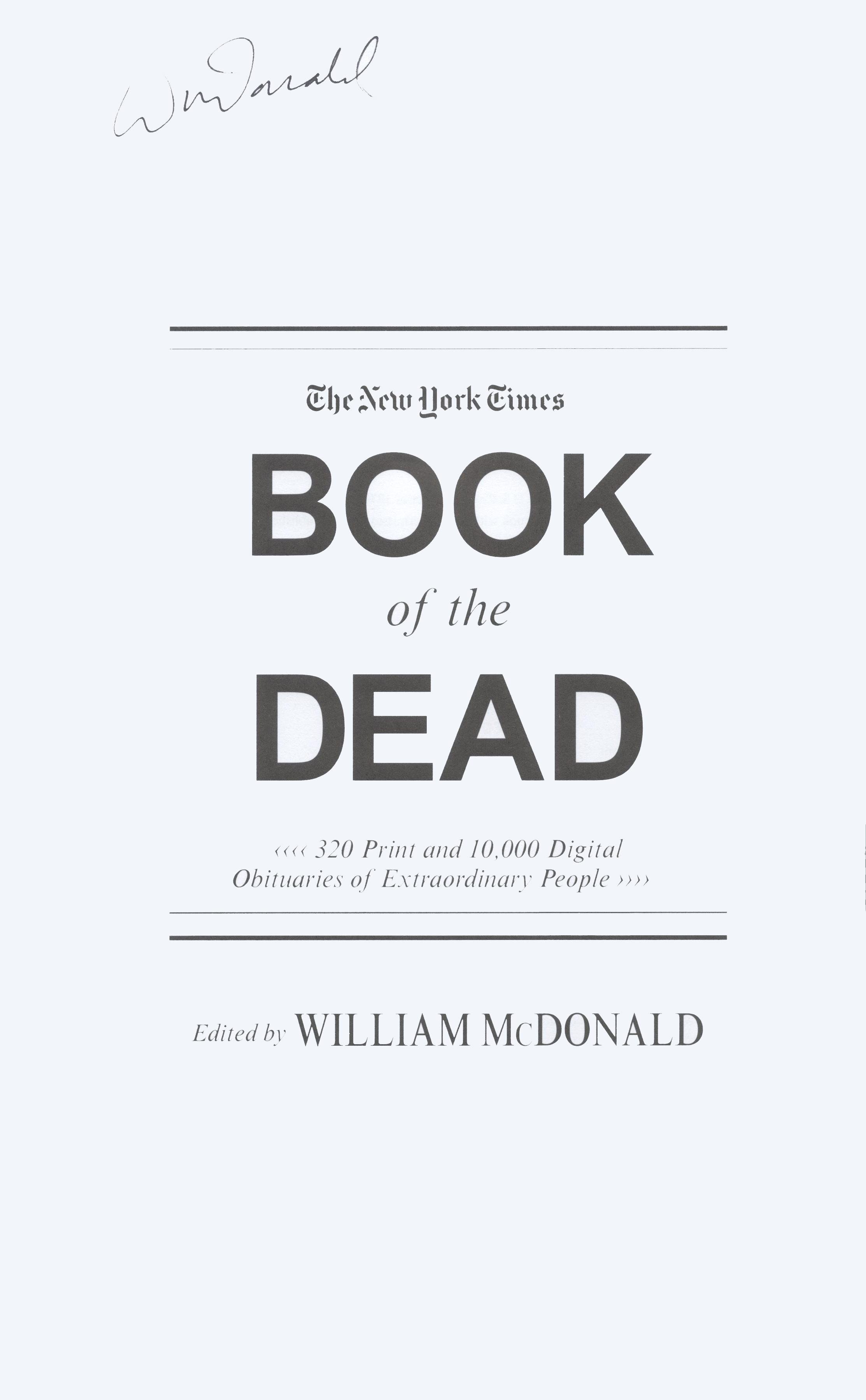 book of dead new york times