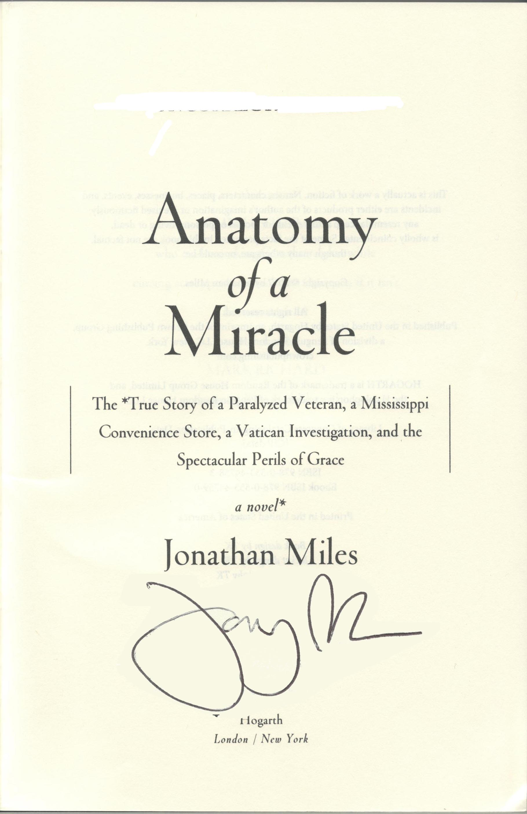 Anatomy of a Miracle | The Alabama Booksmith
